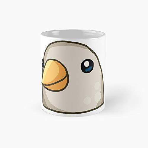Tasse mit Vogel-Emoji-Whatsapp-Motiv.