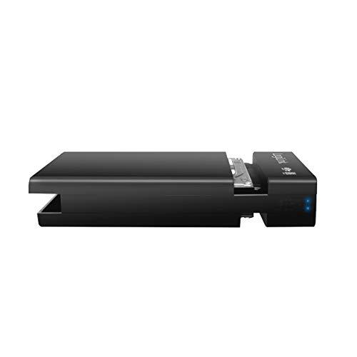 LogiLink UA0285 USB 3.0 Raid-Festplattengehäuse 2-Bay für (2x 2,5 Zoll) S-ATA HDDs/SSDs (Bauhöhe 9,5mm) mit Gehäusesicherung schwarz