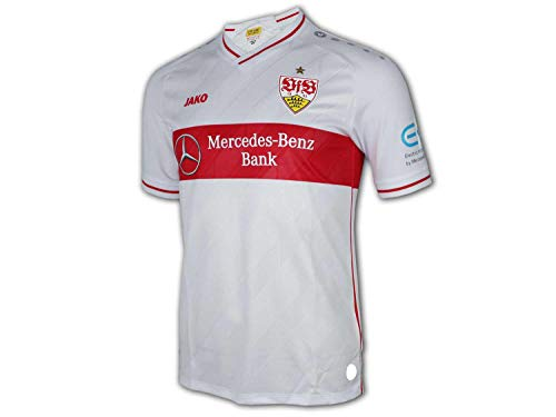 JAKO VfB Stuttgart Heim Trikot 20 21 weiß VfB Home Shirt Herren Fan Jersey, Größe:L