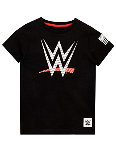 WWE Boys' World Wrestling Entertainment T-Shirt Black Size 6