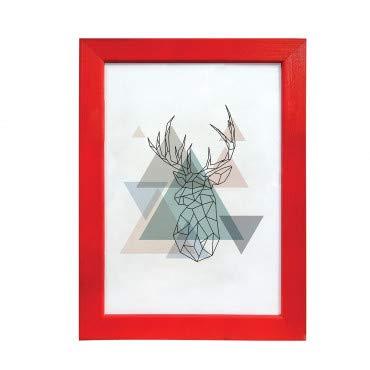 Artepoint Holz Bilderrahmen Natur von 9x13 bis 50x70 Querformat und Hochformat zum Aufhängen Rahmen KIEFERNHOLZ Farbe: Rot - Format 50x70