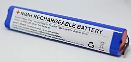 Premium Batería para persianas Velux 946933 NiMH AA 10,8 V/2100 mAh batería de repuesto para persianas, ventana solar