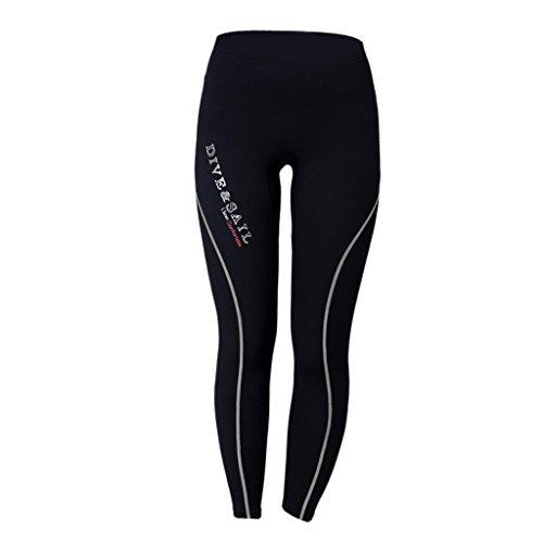 T TOOYFUL 1,5 Mm Neopren Stretch Surfing Scuba Dive Pants Neoprenanzug Dünne Lange Hose - Grau für Männer, XXL