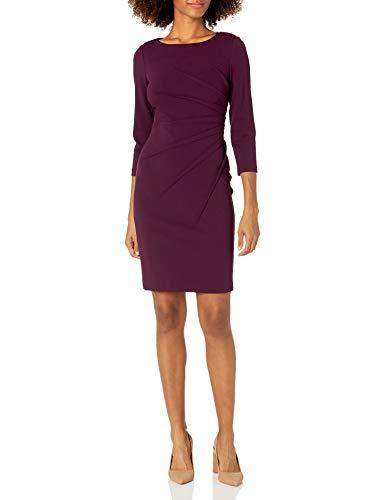 Calvin Klein Women's Three Quarter Sleeve Starburst Sheath Dress,...