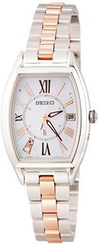 [セイコーウォッチ] 腕時計 ルキア LUKIA(ルキア) ソーラー電波 チタンモデル ダイヤモンド入り白蝶貝ダイヤル サファイアガラス SSQW051 レディース シルバー
