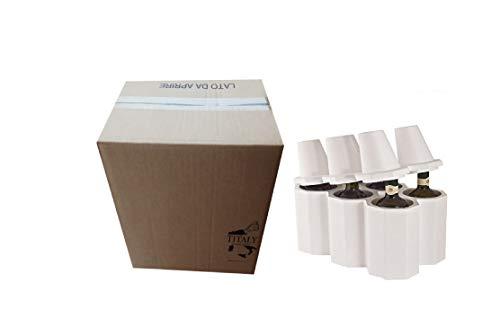 Titaly - Botellero de vino de poliestireno con caja de cartón