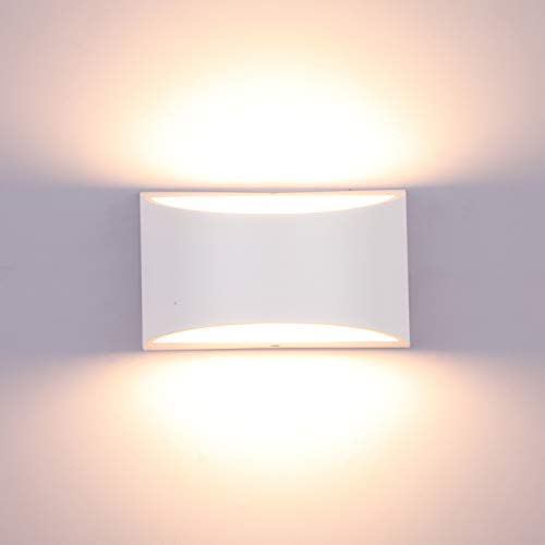 Lightess Dimmable Wall Sconces Modern LED Wall Lamp 12W Indoor Wall Sconce Up Down Hallway Wall Mounted Light Fixtures for Bedroom Living Room, Warm White