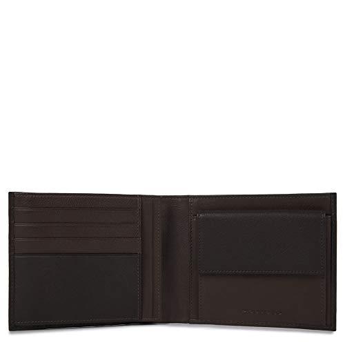 Piquadro PU1240P15/N Portafoglio Uomo Collezione Pulse Portamonete, Pelle, Nero, 12 cm