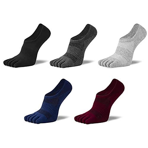 QKFON Calcetines ortopédicos de compresión para hombre, con forro de corte ultra bajo con pestaña de gel, calcetines de ciclismo transpirables para hombres...