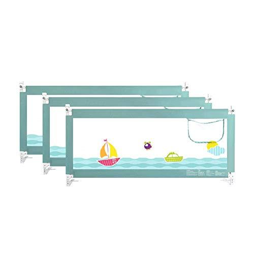 ZHAS Bed Rail ndash; Protector de Cama para Cama de niño - Queen Size Protector de Cama para niños - Estampado de Dibujos Animados - Sueño Seguro para Cama Doble (Tamaño: 1.5x2x2m)