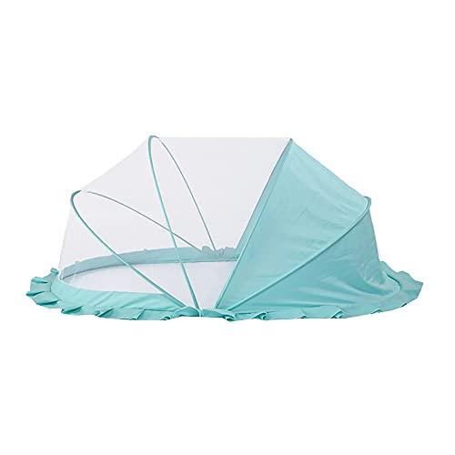 73FACAI Mosquitera Infantil Yurta Plegable Sin Fondo No Es Necesario Instalar la Cubierta Antipolvo de la Mosquitera de la Cuna Fácil de Transportar,Blue