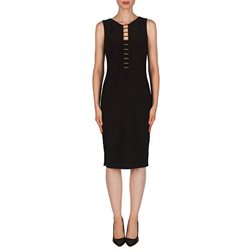 Joseph Ribkoff Abito Donna Nero Black Dress Style 181035 42