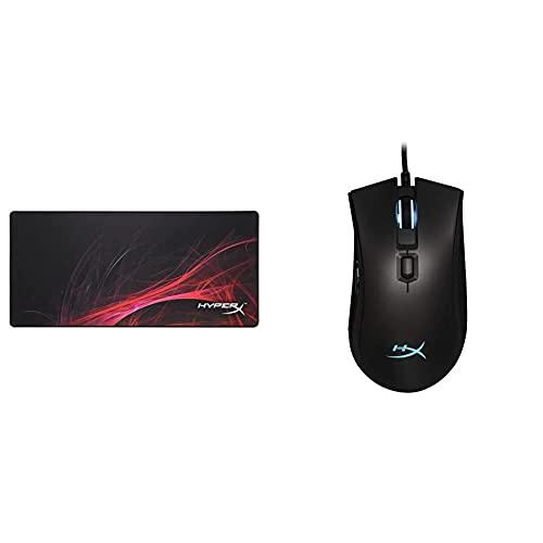 キングストン HyperX Pulsefire FPS Pro RGB ゲーミングマウス HX-MC003B + HyperX ゲーミングマウスパッド Fury S - Speed Edition Pro XLサイズ HX-MPFS-S-XL