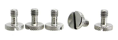 Steel Screws 1/4' Tripod Quick Release QR Plate Camera Flathead Slot Stainless SS ideal for Manfrotto / Sachtler (5)