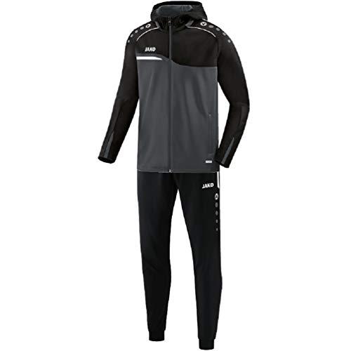 JAKO Herren Trainingsanzug Polyester Competition 2.0 mit Kapuze, anthrazit/schwarz, L, M9418