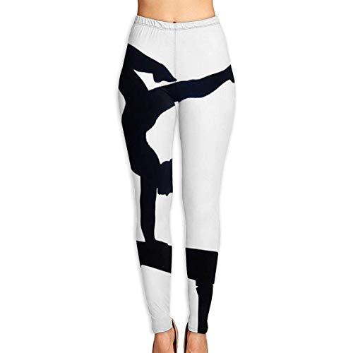YBRB Turner auf Balken Frauen Lustige Print Yoga Leggings Hosen Workout Fitness Hosen Sport Gym Yoga Quick Dry Capri Leggings
