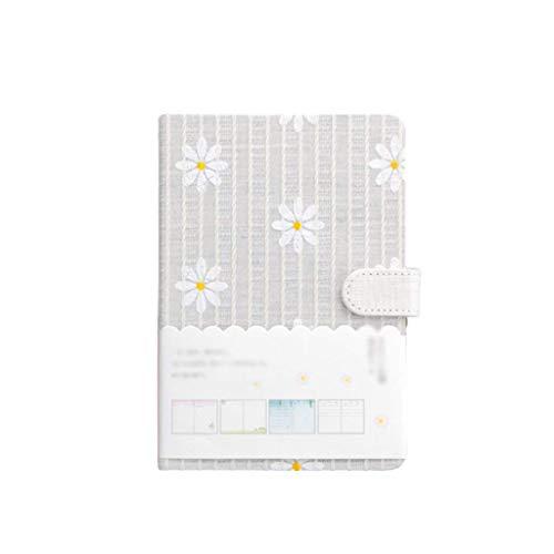 MDSQ Cuadernos Diario Diario Bloc de Notas Lindo Papel Floral Rayado de Tapa Dura Mujeres Adolescentes Cumplea?os de Aniversario (Color: Rosa) (Color : Gray)