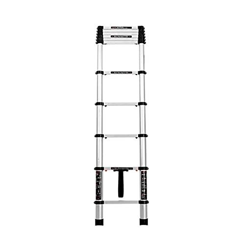 GAODINGD Escalera telescópica Plegable 1.4M-4.9M Escalera Telescópica Carga Máxima 150KG/330lbs Aluminio Escalones Antideslizantes Multifuncional Escalera Extensión Portátil (Size : 3.8M)
