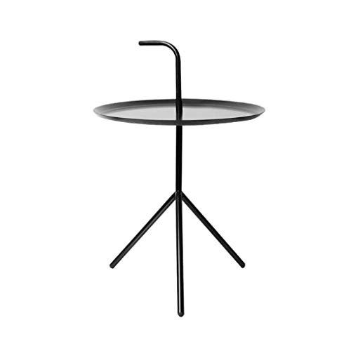 L-Life Tische Beistelltische Beistelltisch Ende Tabellen Schmiedeeisen Kleiner runder Teetisch Kaffeetisch, Einfach Zimmer Bedside Wohnzimmer Balkon Wartebereich Dreieck Sofa Tisch (Size : 35 * 54cm)