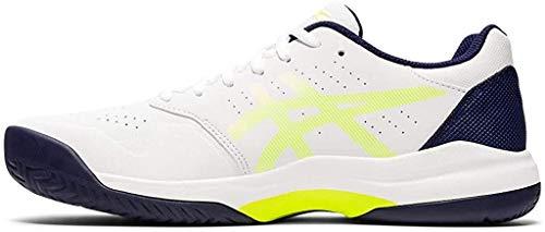 ASICS Men's Gel-Game 7 Tennis Shoes, 8.5M, White/Safety Yellow