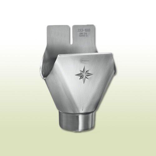 Zink Einhangstutzen oval RG 400 für Fallrohr DN 100