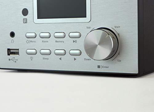 Xoro HMT 500 - Micro System Internet-/ DAB+/FM-Radio, CD Player, Bluetooth, Mediaplayer, 2.4 Farbdisplay, RC ,2x10W, schwarz