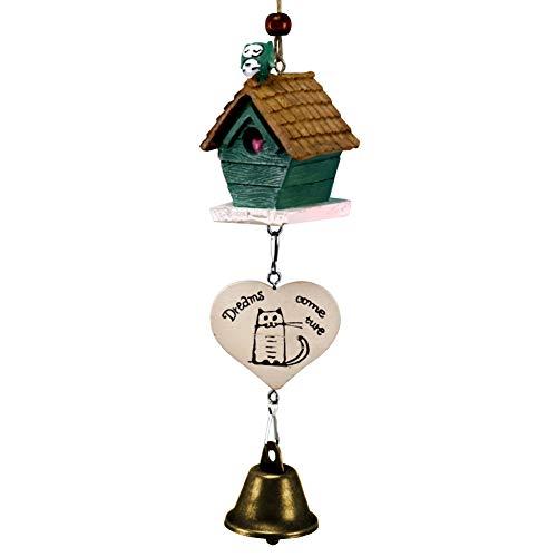 Mothcattl - Carillones de viento de resina para el hogar,