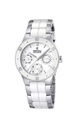 Festina Damen Chronograph Quarz Uhr mit Keramik Armband F16530/1