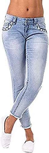 Blue Monkey Damen Crop Jeans mit Nieten & Pailetten Luci 30185 (W26)