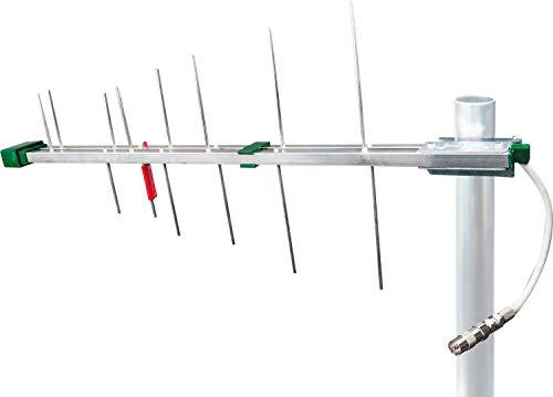 SCHWAIGER -20334- DVBT-2 Antenne extérieure avec amplificateur | antenne extérieure passive | max. Filtre coupe-feu LTE | pour la réception DVB-T | connexion au récepteur DVBT-2 et à la télécommande