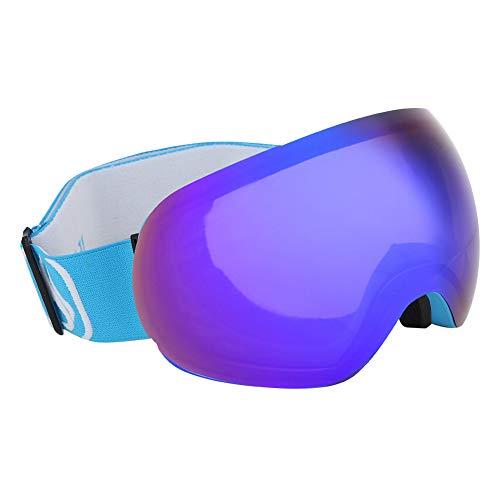 Da Dini Gafas De Snowboard De Esquí Sin Marco, Snowboard Snowmobile Professional Ski Goggles Outdoor Anti Fog UV Doble-Lens