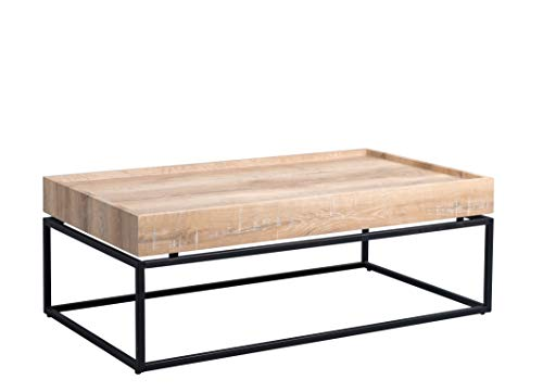 HomeTrends4You Madison 3 Couchtisch, MDF Dekor Wildeiche, hellbraun, 110x60cm, Höhe 39cm