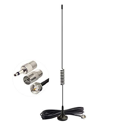 Bingfu FM Radio Antenna Magnetic Base FM Antenna for Stereo Receiver Indoor Pioneer Onkyo Yamaha Marantz Sherwood Bose Wave Music System Home Stereo Receiver AV Audio Vedio Home Theater Receiver