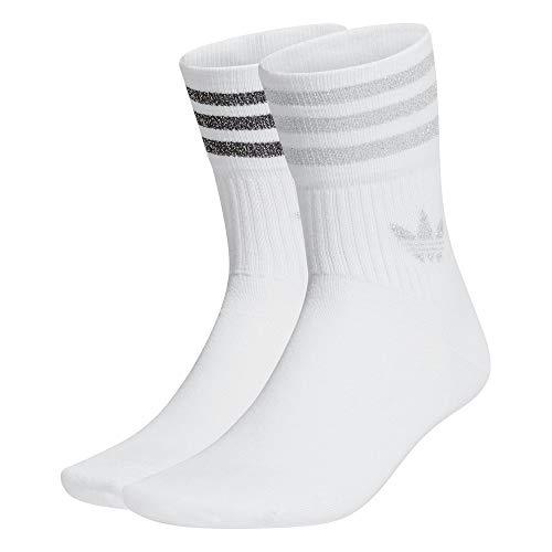 adidas Damen Mid Cut Glt Sck Socken, Wei Silber Met., M EU