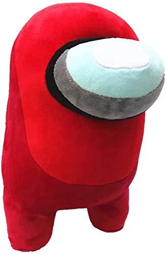 Plüschi Original✓ Among Us Plüschtier Kuscheltier Crewmate Stofftier 20cm Plush Merch (Rot)