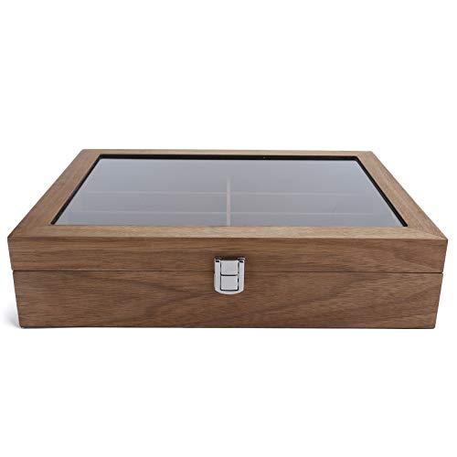 Caja de almacenamiento de gafas, 8 celosías de madera para gafas de sol, vitrina de gafas de sol minimalistas de lujo, caja de presentación, organizador de gafas, caja de almacenamiento