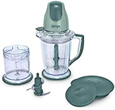 Ninja 400-Watt Blender/Food Processor for Frozen Blending, Chopping and Food Prep with 48-Ounce Pitcher and 16-Ounce Chopper Bowl (QB900B), Silver