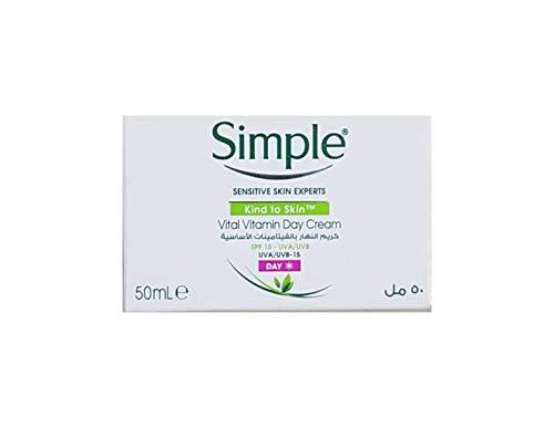 Einfache Hautfreundlich Vital Vitamin Tagescreme mit Sonnenschutz 50ml [Körperpflege]