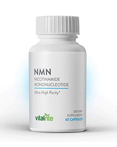31vDDShxuJL - VitalRite - NMN Supplements | Nicotinamide Mononucleotide - 250mg Per Serving | NAD+ Precursor Supplement | Promotes Anti-Aging and Supports Mitochondria | Increase Cellular Energy and Metabolism