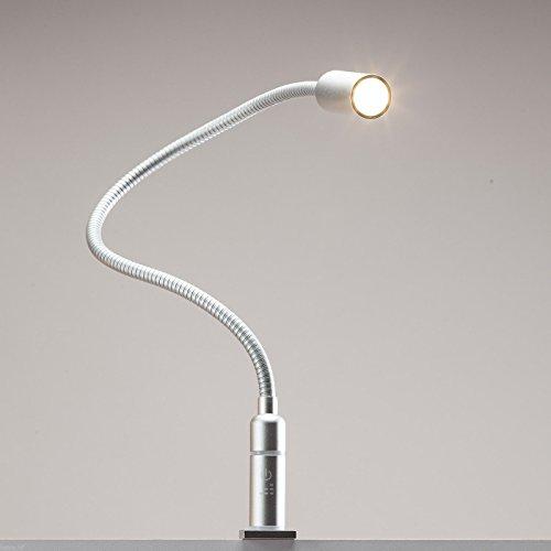 3W LED Bettleuchte dimmbar Leseleuchte Nachttischlampe Bettlampe Leselampe, Auswahl:1er Set silbergrau