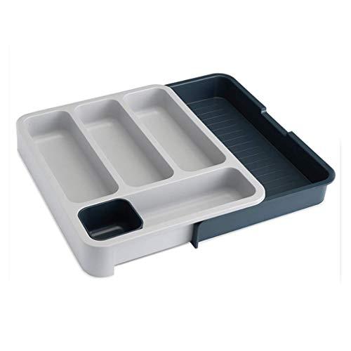 ZHAS Gewürzregale Versenkbare Küchenablage Kunststoffablauf Separates Geschirr Schubladentyp Multifunktionsspeicher Haushalt 36,5 cm * 28,3 cm * 5,5 cm (Farbe: Grün)
