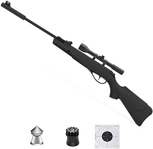 ECOMMUR Escopeta de balines | Carabina - Rifle de Aire comprimido (Muelle) y perdigones Calibre 4.5mm [3.5J]