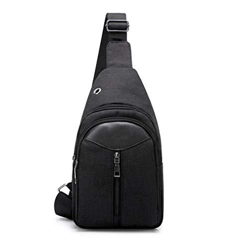 Bdesign Unisex Sling Bag, Shoulder Cross Body Bag for Men, one Shoulder Backpack, Outdoor Cycling Hiking Camping Travel Women Chest Pack (Color : Black)