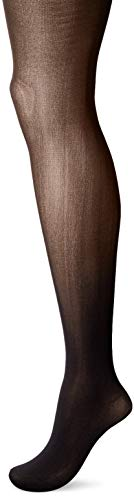 Hanes Silk Reflections Women's Opaque Control Top XTEMP Tights, Black, Small