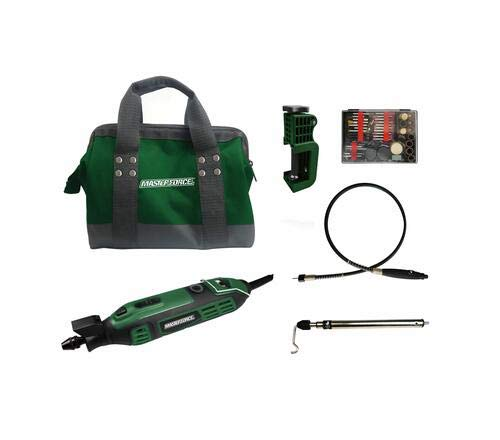 Masterforce 1.6-Amp Corded Rotary Tool Kit - 110 Piece