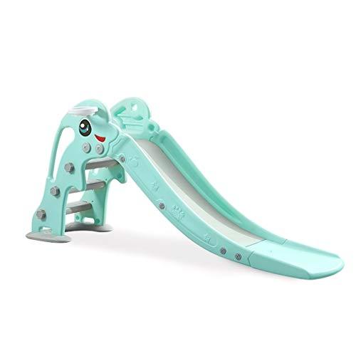 Freistehende Rutschen Freistehende Folien Climbers Slides Kinderrutsche Kinderspielzeug Freizeitpark Slide Innen Zuhause Kleinkind Slide (Color : Green, Size : 175 * 40 * 80cm)