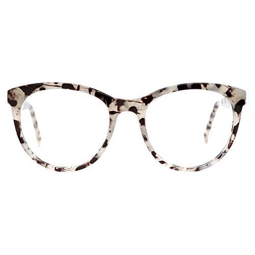 TIJN Oversized Blue Light Glasses for Women Men Large Frame Anti Eyestrain Clear Computer Gaming Blue Blocker Glasses