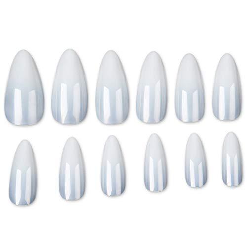 500 Mandel Tips Fullcover Natur für Nagelverlängerung und Nailart - Nageltips Mandel Form kurz