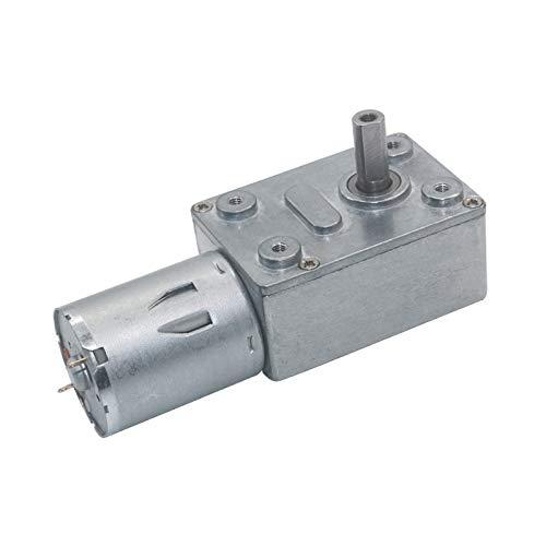 WNJ-TOOL, 1pc JGY-370 High Torque 2-210rpm Low Speed 6v 24v 12V DC Motor Elektromotor Schneckengetriebemotor mit quadratischem Getriebe (Farbe : 66rpm, Größe : 6V)