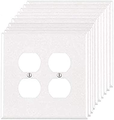 Sterl Lighting Duplex Wall Plates Pack Of 10 Electrical Outlet Cover 2 Gang Standard Size Unbreakable Polycarbonate Material Duplex Receptacle Ul Listed Amazon Com
